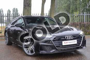 Audi A7 Diesel 50 TDI Quattro S Line 5dr Tip Auto in Myth Black Metallic at Coventry Audi