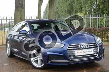 Audi A5 2.0 TFSI S Line 5dr S Tronic in Scuba Blue Metallic at Coventry Audi