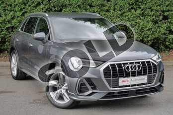 Audi Q3 35 TFSI S Line 5dr in Daytona Grey Pearlescent at Worcester Audi