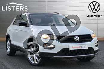 Volkswagen T-Roc 1.5 TSI EVO Design 5dr in Pure white at Listers Volkswagen Worcester