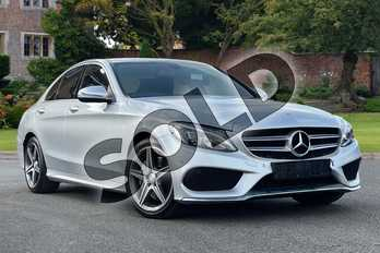 Mercedes-Benz C Class Diesel C250d AMG Line 4dr Auto in Iridium Silver Metallic at Mercedes-Benz of Grimsby