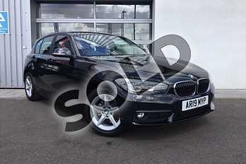 BMW 1 Series 118i SE 5-door in Black Sapphire metallic paint at Listers King's Lynn (BMW)