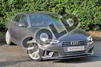Audi A4 40 TFSI S Line 4dr S Tronic in Daytona Grey Pearlescent at Worcester Audi