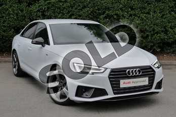 Audi A4 35 TFSI Black Edition 4dr in Glacier White Metallic at Worcester Audi
