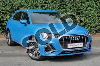 Audi Q3 Diesel 35 TDI S Line 5dr S Tronic in Turbo Blue at Worcester Audi