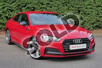 Audi A5 40 TDI Quattro Black Edition 2dr S Tronic in Tango Red Metallic at Worcester Audi