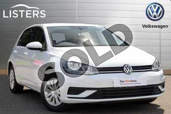 Volkswagen Golf 1.4 TSI S 5dr in Pure white at Listers Volkswagen Coventry