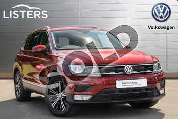Volkswagen Tiguan 1.4 TSI 150 SE Nav 5dr in Ruby Red at Listers Volkswagen Coventry