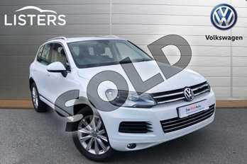 Volkswagen Touareg Diesel 3.0 V6 TDI 245 SE 5dr Tip Auto in Pure white at Listers Volkswagen Worcester