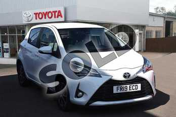 Toyota Yaris 1.5 VVT-i Icon Tech 5dr in Pure White at Listers Toyota Grantham