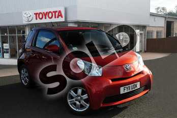 Toyota iQ 1.0 VVT-i 3dr in Red at Listers Toyota Grantham