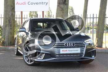Audi A4 40 TFSI S Line 5dr S Tronic in Daytona Grey Pearlescent at Coventry Audi