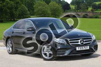 Mercedes-Benz E Class Diesel E300de AMG Line Premium 4dr 9G-Tronic in obsidian black metallic at Mercedes-Benz of Boston