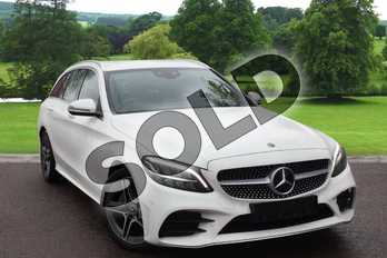 Mercedes-Benz C Class C200 AMG Line 5dr 9G-Tronic in Polar White at Mercedes-Benz of Boston