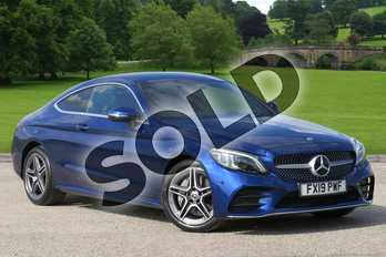 Mercedes-Benz C Class C300 AMG Line Premium 2dr 9G-Tronic in brilliant blue metallic at Mercedes-Benz of Boston