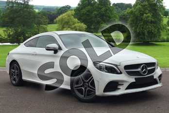 Mercedes-Benz C Class Diesel C220d AMG Line Premium 2dr 9G-Tronic in Polar White at Mercedes-Benz of Grimsby