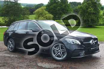 Mercedes-Benz C Class Diesel C200d AMG Line Premium 5dr Auto in obsidian black metallic at Mercedes-Benz of Grimsby