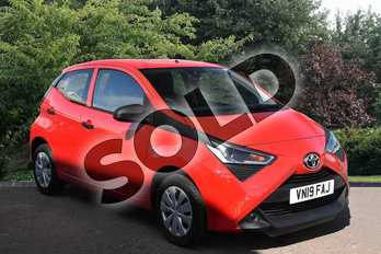 Toyota AYGO 1.0 VVT-i X 5dr in Red at Listers Toyota Stratford-upon-Avon