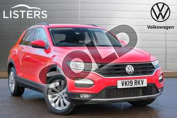 Volkswagen T-Roc 1.5 TSI EVO SE 5dr in Flash Red at Listers Volkswagen Stratford-upon-Avon