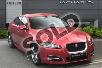 Jaguar XF Diesel 2.0d R-Sport 4dr Auto in Italian Racing Red at Listers Jaguar Droitwich