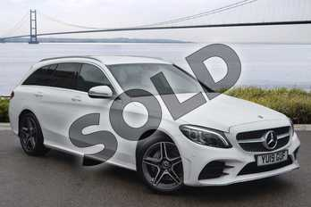 Mercedes-Benz C Class C180 AMG Line Premium 5dr Auto in Polar White at Mercedes-Benz of Hull