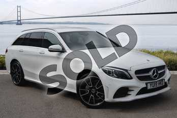 Mercedes-Benz C Class Diesel C220d 4Matic AMG Line Premium 5dr 9G-Tronic in Polar White at Mercedes-Benz of Hull