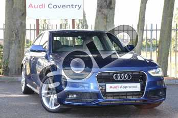 Audi A4 Diesel 2.0 TDI 177 S Line 4dr in Scuba Blue, metallic at Coventry Audi