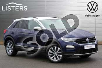 Volkswagen T-Roc 1.5 TSI EVO Design 5dr in Atlantic Blue + White Roof at Listers Volkswagen Leamington Spa