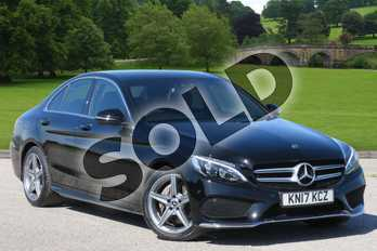 Mercedes-Benz C Class Diesel C220d AMG Line 4dr in Black at Mercedes-Benz of Boston