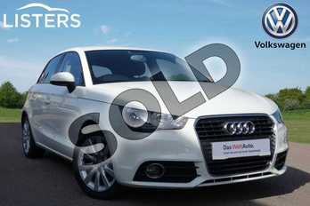Audi A1 1.4 TFSI Sport 5dr in AMALFI WHITE at Listers Volkswagen Loughborough
