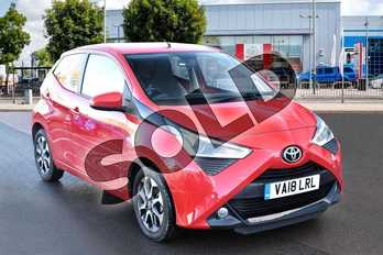 Toyota AYGO 1.0 VVT-i X-Plore 5dr in Red Pop at Listers Toyota Cheltenham