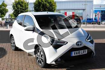 Toyota AYGO 1.0 VVT-i X-Plore 5dr in White Flash at Listers Toyota Cheltenham