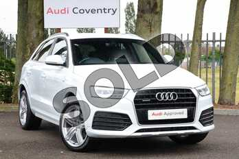 Audi Q3 Special Editions 2.0T FSI Quattro S Line Plus 5dr S Tronic in Glacier White, metallic at Coventry Audi