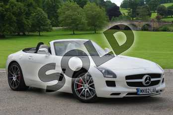 Mercedes-Benz SLS AMG Roadster SLS 63 2dr Auto in designo mystic white 2 at Mercedes-Benz of Boston