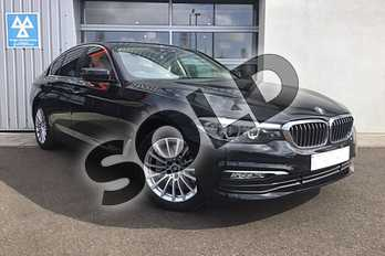 BMW 5 Series 530e SE 4dr Auto in Black Sapphire metallic paint at Listers King's Lynn (BMW)