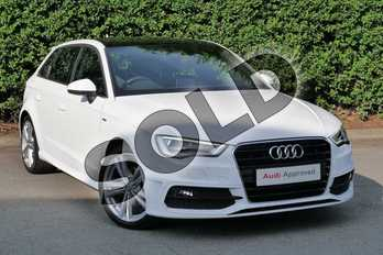 Audi A3 1.4 TFSI 125 S Line 5dr S Tronic in Ibis White at Worcester Audi