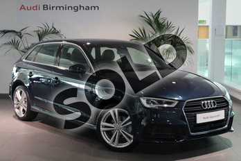 Audi A3 1.4 TFSI S Line 5dr S Tronic in Cosmos blue, metallic at Birmingham Audi