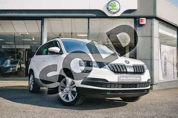 Skoda Karoq 1.0 TSI SE Technology 5dr DSG in Candy White at Listers ŠKODA Coventry