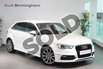 Audi A3 1.4 TFSI 150 S Line 5dr in Ibis White at Birmingham Audi