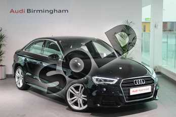 Audi A3 1.5 TFSI S Line 4dr in Myth Black Metallic at Birmingham Audi