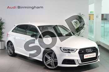 Audi A3 Special Editions S3 TFSI Quattro Black Edition 5dr S Tronic in Glacier White Metallic at Birmingham Audi