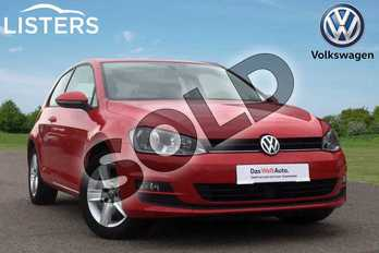 Volkswagen Golf 1.4 TSI 125 Match 3dr in Tornado Red at Listers Volkswagen Loughborough