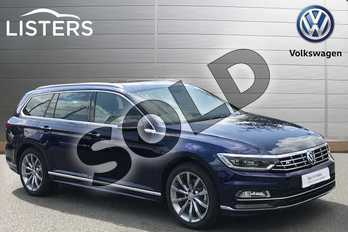 Volkswagen Passat Diesel 2.0 TDI SCR 190 R Line 5dr DSG (Pan Rf) (7 Speed) in Atlantic Blue at Listers Volkswagen Stratford-upon-Avon