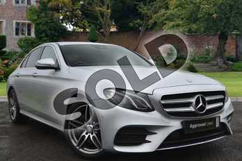 Mercedes-Benz E Class Diesel E220d AMG Line 4dr 9G-Tronic in Iridium Silver Metallic at Mercedes-Benz of Lincoln