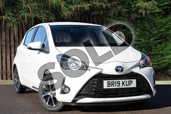 Toyota Yaris 1.5 VVT-i Icon Tech 5dr in Pure White at Listers Toyota Coventry