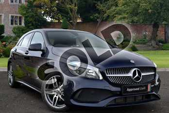 Mercedes-Benz A Class Diesel A200d AMG Line 5dr in Cavansite blue Metallic at Mercedes-Benz of Lincoln