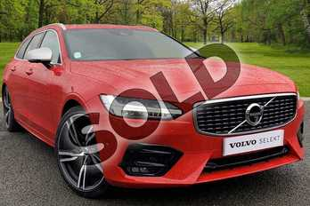 Volvo V90 2.0 T5 R DESIGN 5dr Geartronic in 612 Passion Red at Listers Volvo Worcester