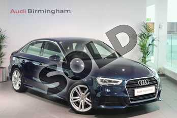 Audi A3 1.4 TFSI S Line 4dr in Cosmos blue, metallic at Birmingham Audi