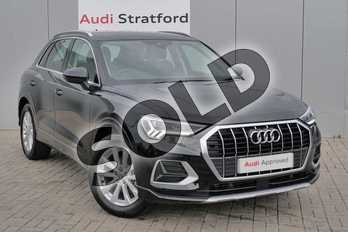 Audi Q3 35 TFSI Sport 5dr in Myth Black Metallic at Stratford Audi