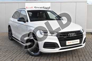 Audi Q5 Diesel 40 TDI Quattro Black Edition 5dr S Tronic in Glacier White Metallic at Stratford Audi